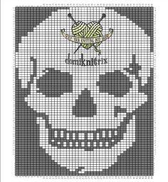 intarsia skull pattern from domiknitrix.com
