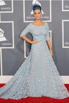 Grammy 2012 - Katy Perry dressed by Elie Saab Couture, spring-summer 2012 collection