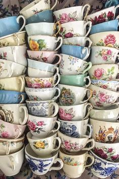 mug cup There are few hours in life more agreeable than the hour dedicated to the ceremony known as afternoon tea. Henry James With all these splendid antique teacups, were ready to spend t Victoria Magazine, Vintage China, High Tea, Drinking Tea, Afternoon Tea, Cup And Saucer, Cup Of Tea, Tea Cup Art, Tea Time