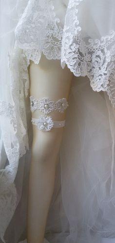 Wedding garter Garter Wedding accessoaries by UniqueCeremony Wedding Favors, Wedding Gifts, Garter Belt Wedding, Ivory Pearl, Bridal Boutique, Wedding Accessories, Bridesmaid Gifts, Lace Shorts, Garter Belts