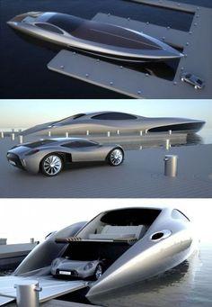James Bond style super yacht