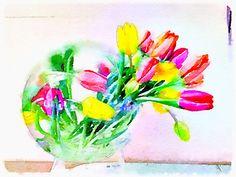 Modern tulips
