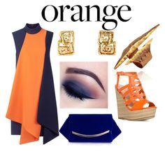 """Orange is the new black"" by ketakibali ❤ liked on Polyvore featuring interior, interiors, interior design, home, home decor, interior decorating, Victoria, Victoria Beckham, Boohoo, orangeandblack and colorchallenge"