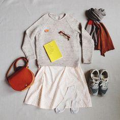 Primoeza Jasmine Dress Primoeza Neat Sweater Primoeza Colourblock Scarf: