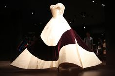 Charles James' famous 'Clover Leaf' dress does not touch the ground, but is intended to lift off the dance floor like an ice skater's skirt in pirouette