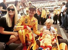 The Hunter-Reay family before the 99th running of the Indy500