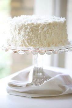 "Italian cream cake with cream cheese frosting. ""This cake has made so many appearances at our table in the last 14 years since I first made it that I couldn't count them."" Looks so good."