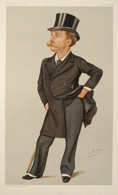 """Sir Leslie Matthew Ward ('Spy') (1851–1922) He was a caricaturist who drew numerous portraits which were published by Vanity Fair, under the pseudonym """"Spy"""". Ward drew 1,325 cartoons for Vanity Fair between 1873 & 1911. His portraits of royalty, nobility, and women, however, were over-sympathetic, if not sycophantic. Later he became even more of a complimentary portraitist, moving from caricature to what he termed """"characteristic portraits'. He joined the regiment in 1876."""