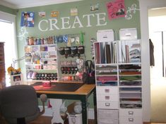 OMG I love how her craft room turned out she has so many great ideas that I could use!!