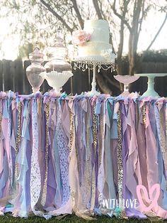 Table Skirt, Unicorn Table Cover, Unicorn Tablecloth, Unicorn Party Decorations, Unicorn Party Supplies, Unicorn Table Cloth