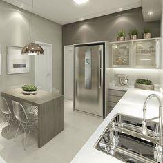 A pedidos, o outro ângulo dessa cozinha linda! ☺ ️ ❤️Projeto @carolcantelli_interiores