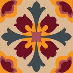 Stencil Patterns, Stencil Designs, Tile Patterns, Pattern Art, Textures Patterns, Stencils, Mosaic Projects, 3d Prints, Tile Art