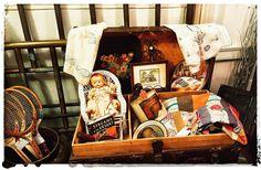 #TheVintageFarmstead at #deepcreekvintage #antiques #treasures #treasurechest #vintage #oldquilt #steamertrunk by suzus7