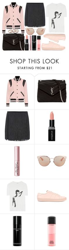 """""""street style"""" by sisaez ❤ liked on Polyvore featuring Yves Saint Laurent, Smashbox, Too Faced Cosmetics, Christian Dior, Bobbi Brown Cosmetics, MAC Cosmetics and Michael Kors"""