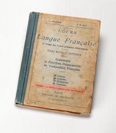 """""""Cours de Langue Française à l'usage des écoles primaires élémentaires,"""" from Charles and Maurice Prendergast's Personal Book Collection."""