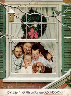 Norman Rockwell Christmas ...the gift of having others~your own tribe