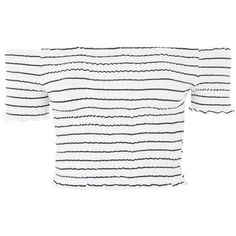Topshop Stripe Shirring Bandeau Top ($21) ❤ liked on Polyvore featuring tops, topshop, navy blue, bandeau bikini top, white crop top, striped top, navy crop top and striped crop top