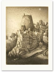 Shaun Tan - Illustration from The Arrival. A book of pictures and no words. Shaun Tan, Owl City, Arte Popular, Children's Book Illustration, Amazing Art, Awesome, Illustrators, Fantasy Art, Book Art