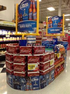 Budweiser football! SalesGrocery StoreDisplay IdeasBeerFootball