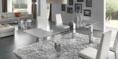 Otras mesas de comedor de acero y cristal