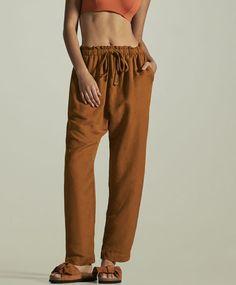 Pantalón básico lino - Oysho