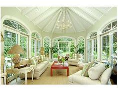 sunroom.What a lovely,relaxing room!!