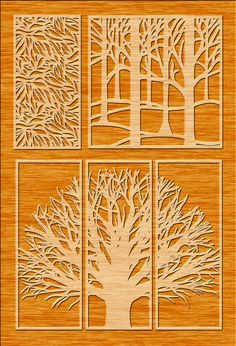 23 Tree Panels Wall Panels Room Decor Tree Patterns Laser image 6