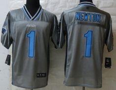 Nike Carolina Panthers #1 Cam Newton 2013 Gray Vapor Elite Jersey