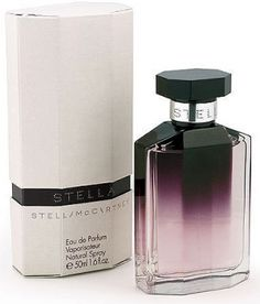 Stella.  This is a lovely fragrance!  The rose and amber stand out to me the most.  It's very rosy without being too sweet or cloying.  It's a grown-up rose scent. From Fragrantica.com: In the top notes there are rose oil, peony and a gentle touch of fresh tangerine. In the heart of the perfume there is rose, whose gentle scent is emphasized by the deep note of amber in the base.