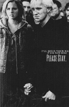 Please Stay. - Dramione Please Stay. Draco Malfoy, Draco Harry Potter, Harry Potter Feels, Draco And Hermione, Harry Potter Quotes, Harry Potter World, Dramione, Scorpius Rose, Slytherin Aesthetic