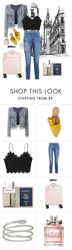"""""""Airport Casual Chic"""" by veronicanicole-1 on Polyvore featuring Balmain, Lewit, 3x1, Serapian, Decadence and Christian Dior"""