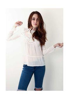 Πουκάμισο White Lace, 31,00€. White Lace, Ruffle Blouse, Women's Fashion, Tops, Fashion Women, Shell Tops, Womens Fashion, Woman Fashion