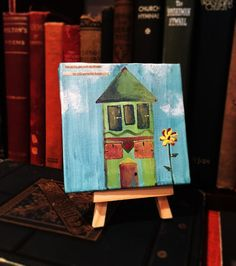 Mini Bible Folk Art Canvas but as for me and my by GospelHymns