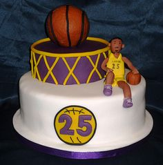 LA Lakers birthday cake by Eva Rose Cakes
