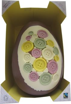 Extra Large Family Easter Egg - Chocolate Buttons @ Cocoa Loco