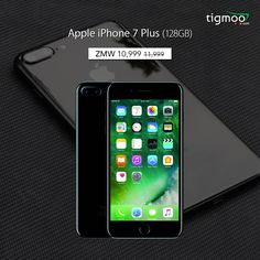 #PriceSlashed on #Apple #iPhone7Plus 128 GB (Black) color at #tigmoo Now order online #OnSale prices of ZMW 10,999 : https://www.tigmoo.com/apple-iphone-7-plus-128-gb-black.html Also Available in SILVER Color: https://www.tigmoo.com/apple-iphone-7-plus-128-gb-silver.html