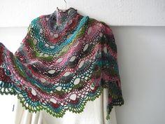 Ravelry: fanalaine's Noro Scallops crochet shawl