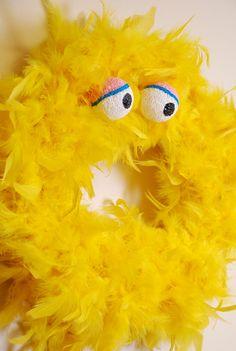 @Lisa Phillips-Barton   cute eyes for beck's costume!  feather wreath- BIG BIRD.