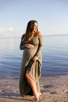 Twin Maternity Photos at the Beach