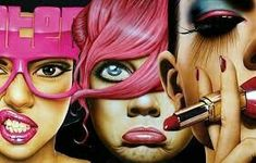 Retro Waves, Horror Comics, Dope Art, Copic, Cartoon Drawings, Pop Culture, Contemporary Art, Street Art, Halloween Face Makeup