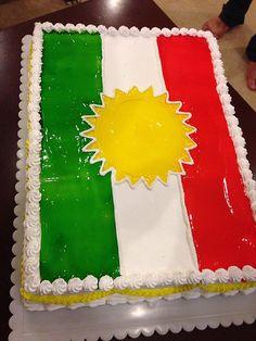 Kurdish Flag Cake