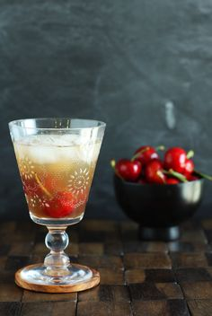 Cherry-Vanilla Sake Sparkler | Set the Table