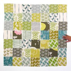 DIY Fabric Squares  Mix it up van skinnylaminx op Etsy, $30.00