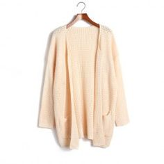 $11.82 Ladylike Batwing Sleeve Solid Color Plus Size Cardigans For Women
