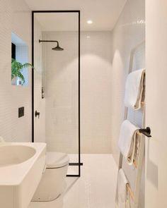 New Modern Minimalist Bathroom Ideas: How Minimalist Design Took This Small Bathroom To The Next Bathroom Interior Design, Minimalist Bathroom Design, Modern Small Bathrooms, Bathroom Makeover, Shower Room, Bathroom Storage, Minimalist Design, Bathroom Decor, Bathroom Renovation