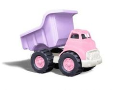 Green Toys Dump Truck in Pink Color, BPA Free, Phthalates Free Play Toys for Improving Gross Motor, Fine Motor Skills. Play Vehicles for kids. Dump Trucks, Toy Trucks, Fire Trucks, Toddler Stocking Stuffers, Plastic Milk, Trucks Only, Play Vehicles, Green Toys, Toddler Toys