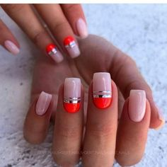 70 + Neueste Nail Arts Fashion Designs Farben und Stil - New Ideas Cute Nails, Pretty Nails, Nail Swag, Square Nails, Nagel Gel, Perfect Nails, Nail Trends, Halloween Nails, Simple Nails