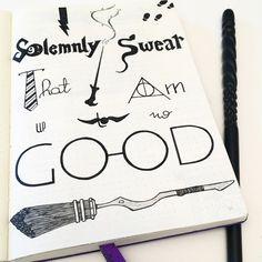 Citation et Décoration Harry Potter dans mon Bullet Journal