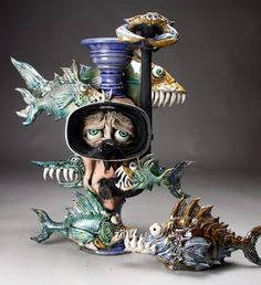 Face Jugs by Mitchell Grafton - Grafton Pottery Ceramic Clay, Ceramic Pottery, Pottery Art, Pottery Ideas, Face Jugs, Sculpture Clay, Pottery Sculpture, Sculpture Ideas, Ceramic Sculptures