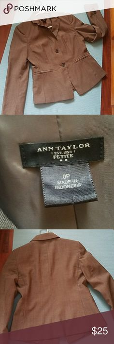 Ann Taylor Loft Gray Blazer! Petite gray blazer from Ann Taylor Loft. Like new condition! Never worn, but no tags. Jackets & Coats Blazers